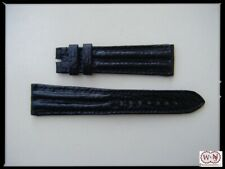 Cinturino orologio 20/16 Squalo nero doppia imbottitura tubolare Made in Italy