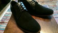 MENS SMART OFFICE WEDDING SHOES FAUX SUEDE FORMAL CASUAL PARTY BROGUE SHOES M5