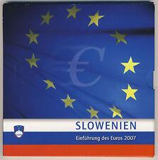 Slowenien KMS 2007 Einführung des Euro mit Briefmarken