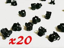 20 x Black Plastic Mini Hairpin Claws Clamp Hair Clip Ladies