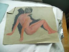 Art Students work circa mid 1920's. unframed loose. Art deco period