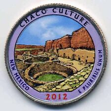 2012 CHACO CULTURE COLORIZED AMERICA'S BEAUTIFUL NATIONAL PARKS QUARTER (P)