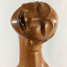 Abstract Sculpture Nude Women Hand Carved From Mahogany Wood With Lot Of Detail