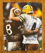 Brett Favre & Steve Young HOF Dual Signed 16x20 Photo Autographed FAVRE COA