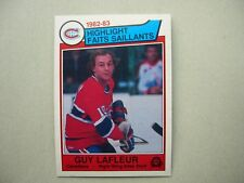1983/84 O-PEE-CHEE NHL HOCKEY CARD #183 GUY LAFLEUR IA NM SHARP!! 83/84 OPC