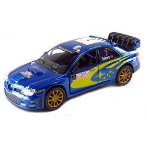 Kinsmart 2007 Subaru Impreza WRC Diecast 1:36 model Rallye Monte Carlo Rally NEW