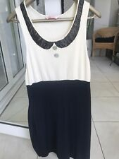 Sass and Bide Dress Body Contouring Fine Knitted Silk With Crystal Sequence