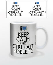 KEEP CALM CTRL ALT DELETE 11 OZ COFFEE MUG COMPUTER TECHNOLOGY FUNNY CUP SCREEN!