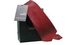 Corbata Diseñador Cuadros Rayas Rojo oscuro bordeo lunares Topos Boda Fina