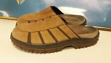 """Rare one """"BASS 'FISHERMAN Tan Suede SANDALS SHOES 11M Extra Comfort/Style"""