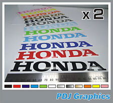 "2 x HONDA Vinyl Decals / Stickers Large 180mm 7"" - ANY COLOUR  Tank / Bellypan"