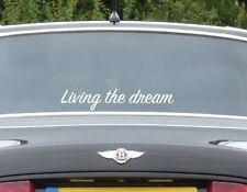 Living the dream decal window sticker