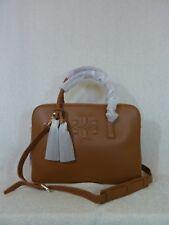 9c7010c7e48 Tory Burch Bark Brown PEB Leather Thea Triple Zip Compartment Satchel