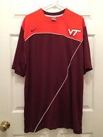 Virginia Tech VPI Hokies Men's Basketball Team Issued Nike Warmup Shirt XL