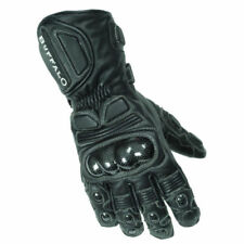Guanti in pelle nera per tutte le stagioni per motociclista