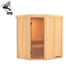Karibu Sauna Saunahaus Heimsauna Elementsauna Innensauna Fichte MAGNE 196x170 cm