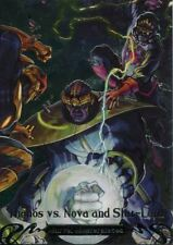 Marvel Masterpieces 2018 Battle Spectra Chase Card BS-2 Thanos vs. Nova and Sta
