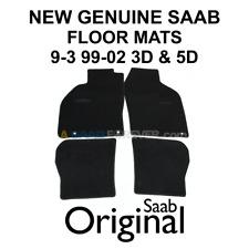 SAAB 9-3 99-02 FLOOR MAT SET BLACK W LOGO HATCHBACK 3D 5D VIGGEN NEW GENUINE OEM