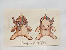 Adorable 1970s Kewpie Doll Postcard Kewpies w/ Hat and Scarf On