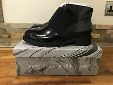 Jeffrey Campbell Alfie Women Round Toe Patent Leather Black Ankle Boot Size UK 7