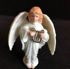 "Lenox Harp Angel Tree Ornament/ Figurine Porcelain~ 3"" High"