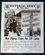 Orig 1944 News Poster - War Photos from Belgium and Tarawa - WW II