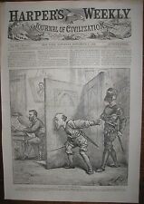 1868 K.K.K. Assassination Threats on General Grant  - Thomas Nast Cartoon