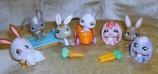 Adorable Littlest Pet Shop Bunny Rabbit Lot w Carrots and Car & Sled