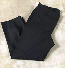 "ANN TAYLOR Women's SZ 00P Black ""NWT"" CARNEGIE Cropped Flat Front Pants - New"