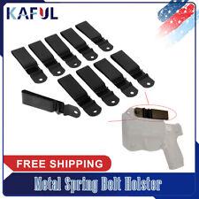 10 PCS Spring Steel Gun Holster Belt Clip for Kydex More Practical
