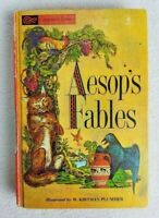 Vintage Aesop's Fables Hardcover Book Illustrated by W. Kirtman Plummer 1963