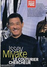 Coupure de presse Clipping 1998 Issey Miake  (3 pages)