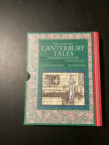 Geoffrey Chaucer: The Complete Canterbury Tales Hardcover Like New!