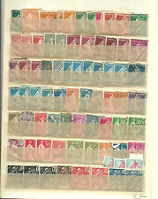 Francia. Conjunto de 325 sellos en 5 hojas de clasificador. Alto valor