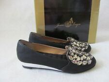JOAN BOYCE BLACK RHINESTONE SHOES SIZE 7 1/2 M - NEW W BOX