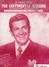 "Vintage (I Love You)  ""For Sentimental Reasons"" Sheet Music Dated 1945 By Best."