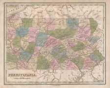 1846 Bradford Map of Pennsylvania