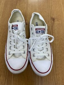 Converse All Star Chuck Taylor Low Top Casual Shoes White Size 8 Womens, 6 Mens