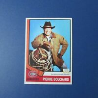 Montreal Canadiens PIERRE BOUCHARD  AGF promo card  Style 1974-75  74-75  1975