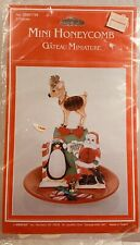 Amscan Vintage Christmas Die Cut Honeycomb Mini Santa, Penguin, Reindeer New
