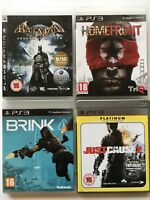 PS3 Game Bundle - Brink + Batman Arkham Asylum + Homefront + Just Cause 2 - 598