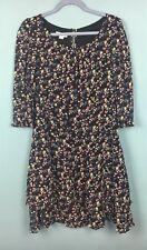 Monsoon Black Pink Yellow Blue Frill Mini Dress Size 12 - B40
