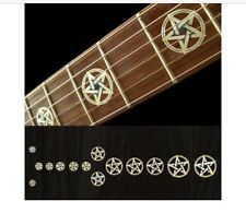Pentagram white silver Fret Markers Inlay Sticker Decal Guitar