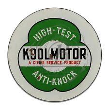 High Test Koolmotor Anti Knock Reproduction Circle Aluminum Sign