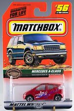 Matchbox MB 56 Mercedes A-Class Red Mint On Card 1999