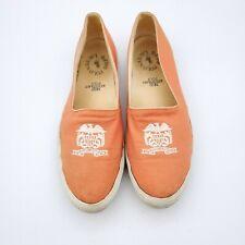 Polo Ralph Lauren Shoes Womens 8 Faxon Low Canvas Slip On Orange Crest W142383