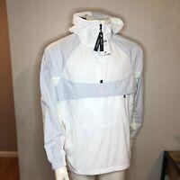 Nike Running Pullover Jacket Hooded Packable White BV5385-100 Size Medium