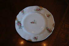 Wonderful C A Limoges Flower Decorated Roses Sponged Gold Applied Snack Plate #4