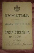 Carta d'identita del Regno d'Italia