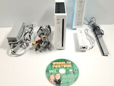 Nintendo Wii Game System Console White RVL-001 with Remote Game Bundle